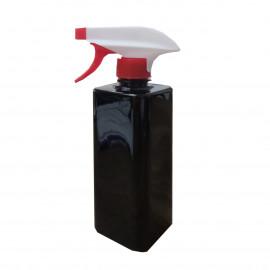 500ml Square Spray Bottle (black)