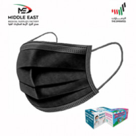 Medical Face Mask - 3 Ply Black ( 40 Packs Per Carton )