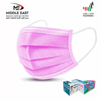 Medical Face Mask - 3 ply Pink (40 Packs per Carton)