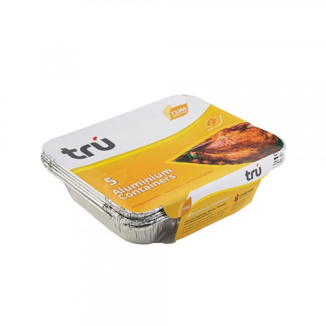 Aluminium Container TRU AC73365 (5 pcs per pack)