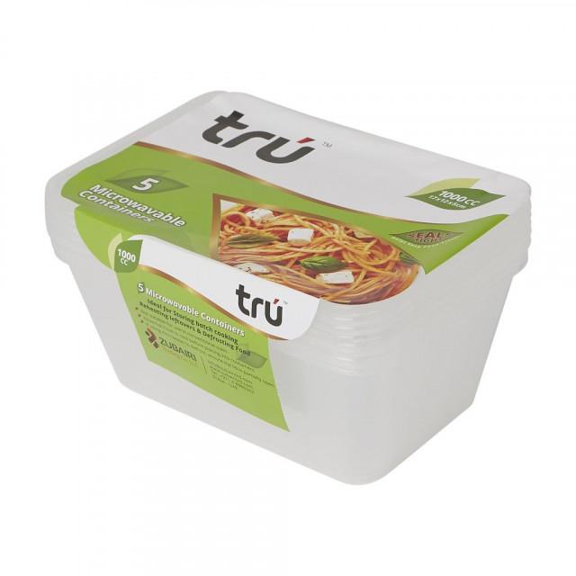 Microwave Container Tru MWC1000ml (5pcs per pack)