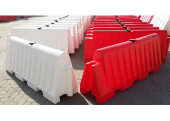 Red and White Road Barrier Full
