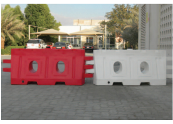 Red and White Road Barrier