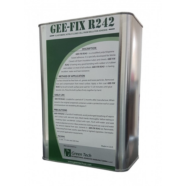 GEE FIX R242 (Elastomeric Nitrile Closed cell foam Insulation Adhesive)