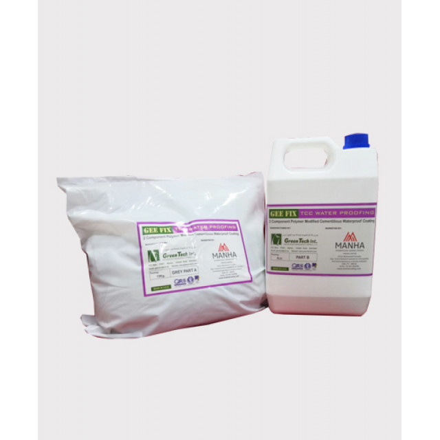 GEE FIX TCC WATER PROOFING (TWO COMPONENT POLYMER MODIFIED CEMENTITIOUS COATING) 15kg + 5L