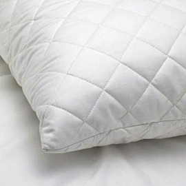 White Quilted Cloudy Pillow ( 45 CM X 70 CM )  700 Gram