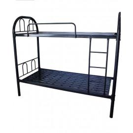 Metal Bunk Bed, Black - 190(L) x 90(W) x 170(H) cm