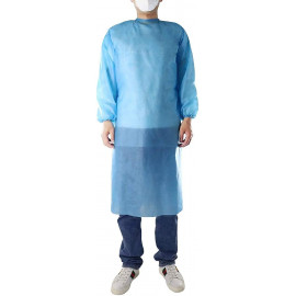 Non-Woven Gown with Fitted Elastic-50GSM ,30gsm
