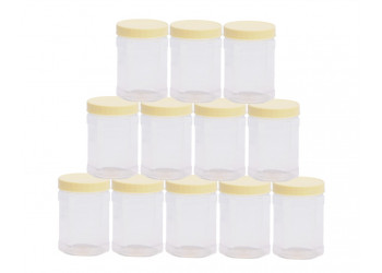 Chemco Hexagonal PET Jar 400 ml  / Plastic Container