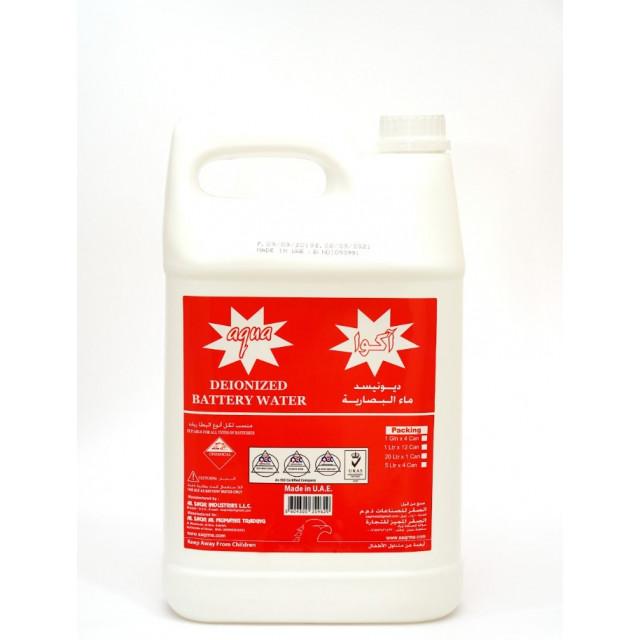 AQUA DEIONIZED BATTERY WATER 1 Gallon (4 pcs per box)