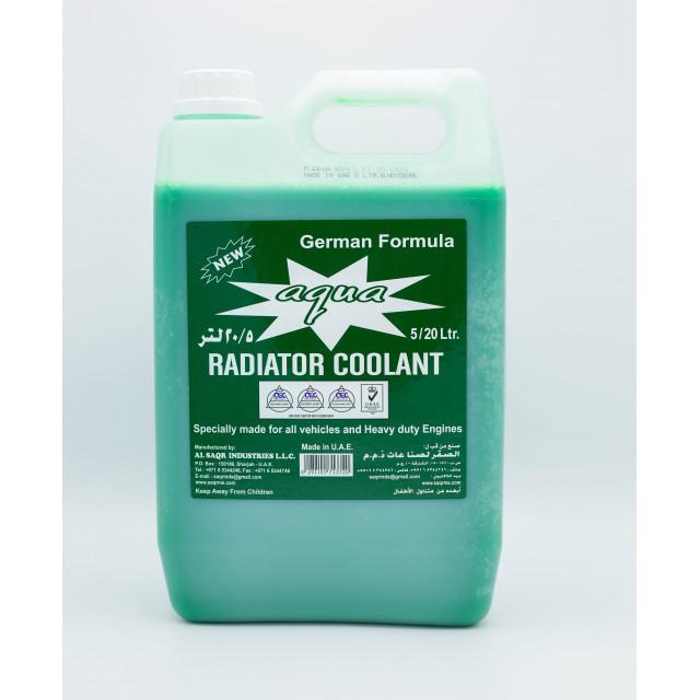 AQUA RADIATOR COOLANT GREEN 5 Liter (4 pcs per carton)