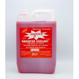 AQUA RADIATOR COOLANT RED 5 LTR ( 4 Pieces Per Carton )
