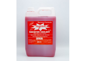 AQUA RADIATOR COOLANT RED 5 LTR ( 4 Pieces Per Carton )