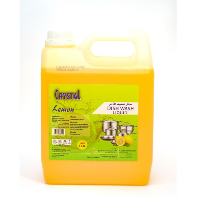 CRYSTAL DISH WASH LIQUID LEMON 4 LTR (4 pieces per box)