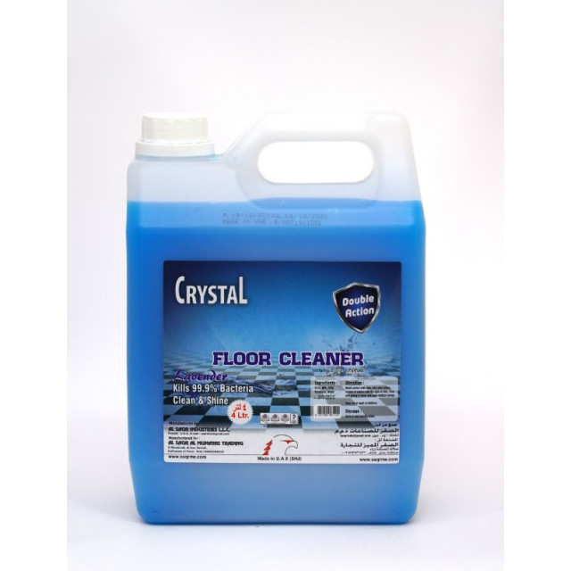 Crystal Floor Cleaner Lavender 4 Ltr ( 4 Pieces Per Box )
