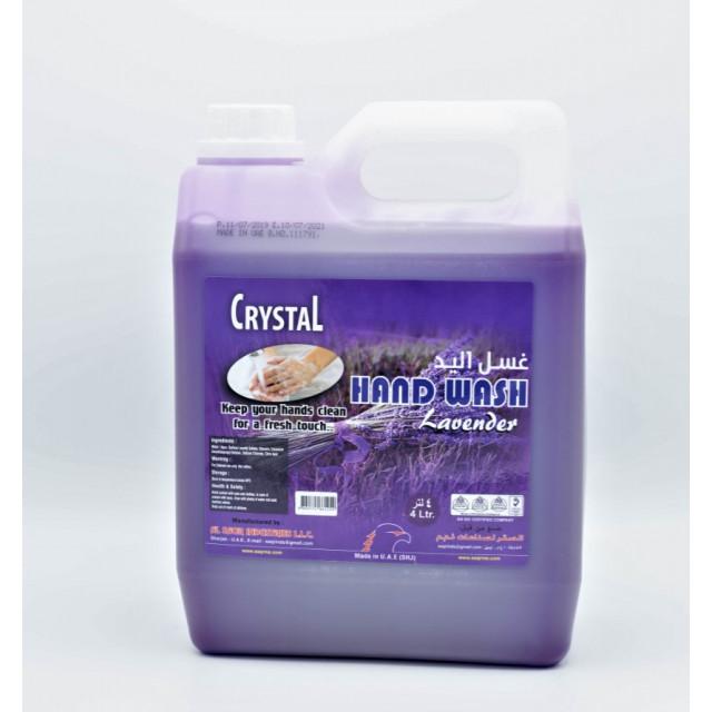Crystal Hand Wash Lavender 4 Ltr (4 pcs per box)
