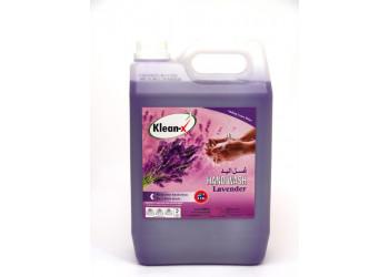 KLEAN-X HAND WASH LAVENDER LIQUID 5 LTR ( 4 Pieces Per Box )