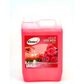 KLEAN-X HAND WASH LIQUID ROSE 5 LTR ( 4 Pieces Per Box )