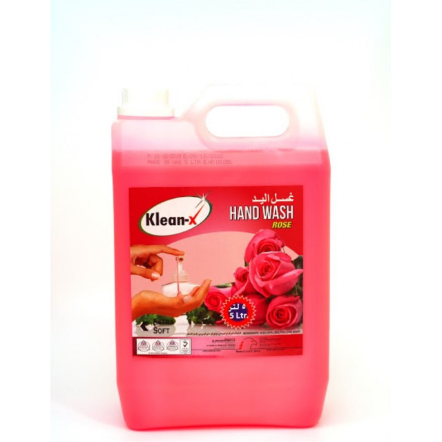 KLEAN-X HAND WASH LIQUID ROSE 5 LTR (4 pcs per box)