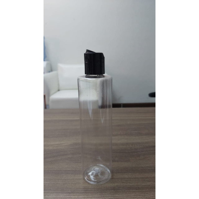250ml Disc Top Cap Cylindrical Bottle (transparent)