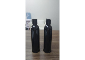 250ml Disc Top Cap Cylindrical Bottle (black)