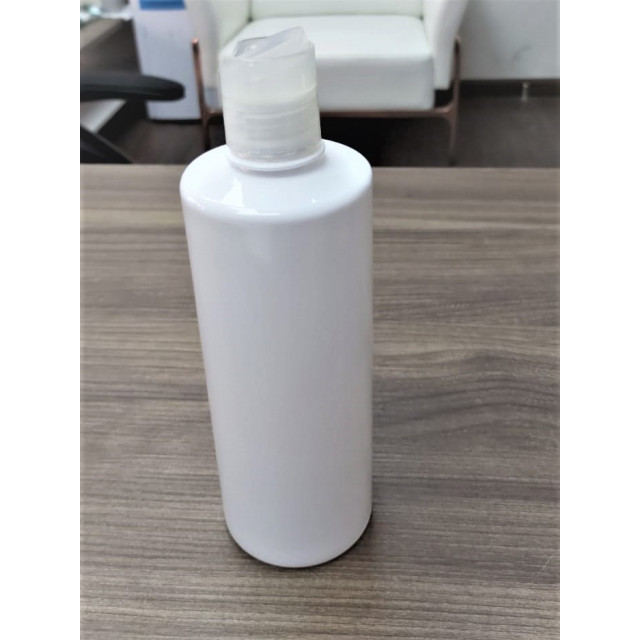 500ml Disc Top Cap Square Bottle (white)