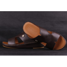 Leather Arabic Sandals Brown2