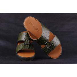 Leather Arabic Sandals Dark Green