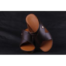 Leather Arabic Sandals Dark Brown