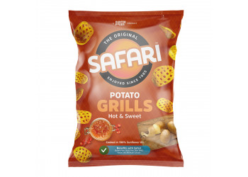 Safari Potato Grills – Hot & Sweet 60 grams (16 pieces per carton)