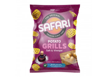Safari Potato Grills – Salt & Vinegar 60 grams (16 pieces per carton)
