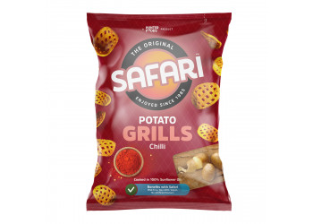 Safari Potato Grills – Chilli 60 grams (16 pieces per carton)