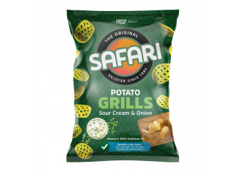 Safari Potato Grills – Sour Cream & Onion 60 grams (16 pieces per carton)