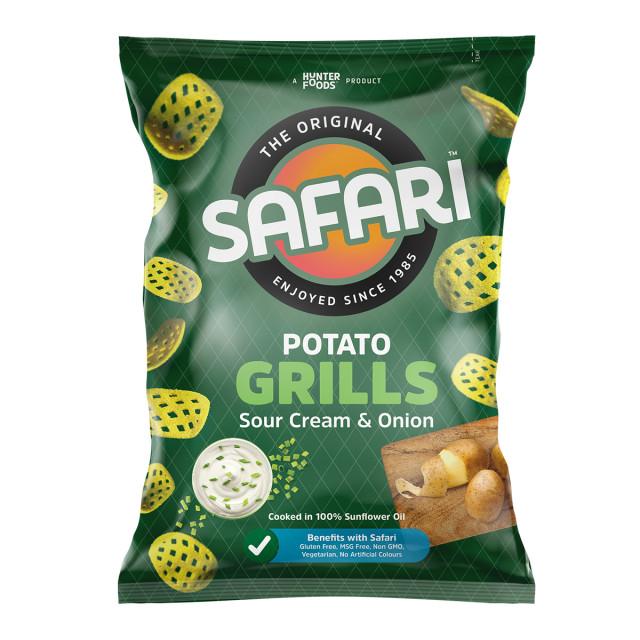 Safari Potato Grills – Sour Cream & Onion (60gm)