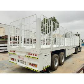 Flat Bed Semi Trailer 2 Axles 12.5 x 2.5 Meter ( 60 Tons Capacity )