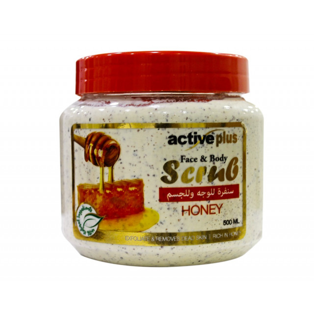 ActivePlus Face and Body Scrub Honey 500ml (24 pieces per carton)