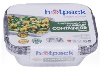 Hotpack- Aluminum container.250 cc - 10pcs (72 packs per carton)