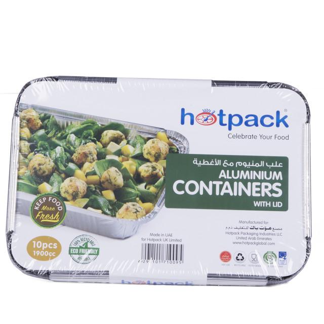 Hotpack Aluminium Container 83190 1900 ML / 1900cc - 10 Pieces ( 12 Packs Per Carton )