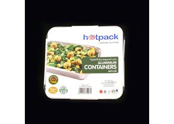 Hotpack- Aluminum container.83241 2410 ml / 2410cc - 10pcs (16 packs per carton)