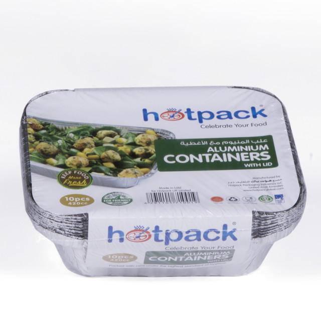 Hotpack aluminium container 8342 420 ml 420 cc-10pcs (24 packs per carton)