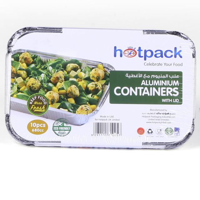 Hotpack Aluminium Container 8368 680 ML / 680 cc - 10 Pieces  ( 24 Packs Per Carton )