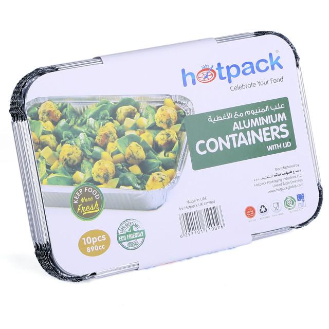 Hotpack aluminium container 8389 890ml / 890cc - 10 pcs (24 packs per carton)