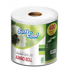 HOTPACK   SOFT N COOL PAPER JUMBO ROLL 400 METER   1 ROLL