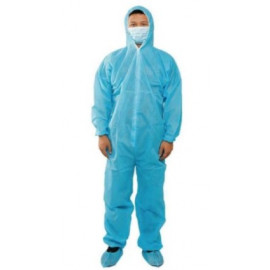 HOTPACK | NON-WOVEN COVERALL WITH HOOD + SHOE COVER | 1 SET