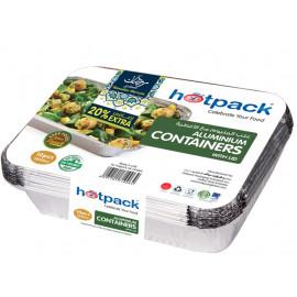 HOTPACK 5+1 PIECES ALUMINUM CONTAINER 1850 ML ( 24 Packets Per Carton )