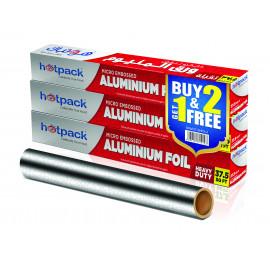 HOTPACK-EMBOSSED ALUMINUM  FOIL BUY 2 GET 1 FREE ( 8 Packet Per Carton )