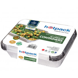 HOTPACK ALUMINUM CONTAINER WITH LID 20% EXTRA ( 20 Packets Per Carton )