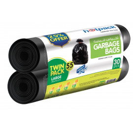 HOTPACK TWIN PACK GARBAGE ROLL  25% OFFER-30 BAGS ( 7 Packet Per Carton )