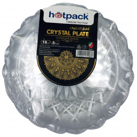 HOTPACK - 5 PIECES CRYSTAL PLATE - 18 centimetre ( 30 Pack Per Carton )