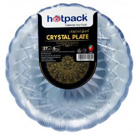 HOTPACK - 5 PIECES CRYSTAL PLATE - 27 centimetre ( 20 Pieces Per Carton )